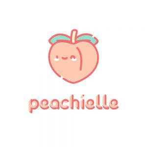 Logo Font Peachielle Full Color